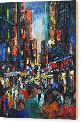 China Town Wood Print by Anthony Falbo