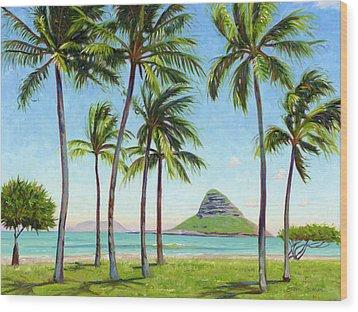 Chinamans Hat - Oahu Wood Print by Steve Simon
