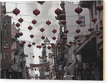 Chinatown Wood Print by Larry Butterworth
