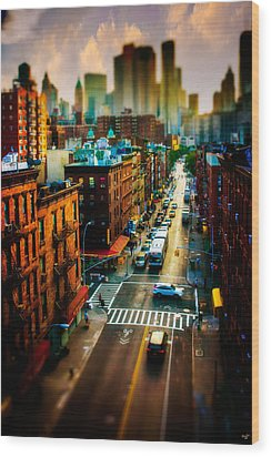 Chinatown Streets Wood Print by Chris Lord