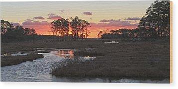 Chincoteague Island Sunset Wood Print by Jack Nevitt