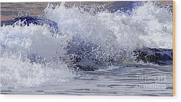 Wood Print featuring the photograph Chincoteague Waves by Olivia Hardwicke
