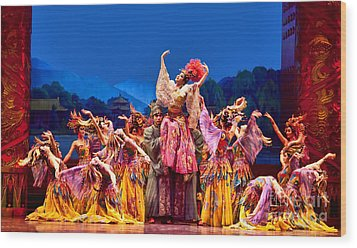 Wood Print featuring the photograph Chinese Ballet In Xian by Shirley Mangini