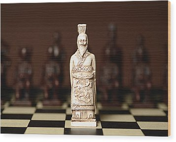 Chinese Chess King Wood Print by Dick Wood