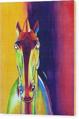 Chinese Dream Horse Wood Print