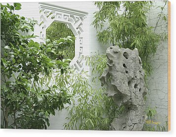 Wood Print featuring the photograph Chinese Garden by Margaret Buchanan