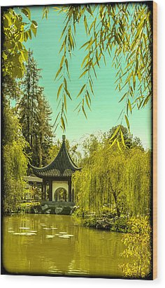Chinese Pavillion Wood Print