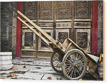 Wood Print featuring the photograph Chinese Wagon In Color Xi'an China by Sally Ross
