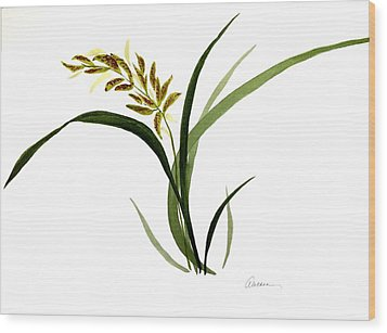 Chinese Wild Orchid #4 Wood Print