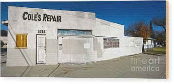 Chino - Coles Repair - 02 Wood Print by Gregory Dyer