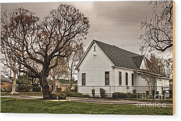 Chino Old School House - 02 Wood Print by Gregory Dyer