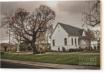 Chino Old School House - 04 Wood Print by Gregory Dyer