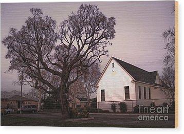Chino Old School House At Dusk- 03 Wood Print by Gregory Dyer