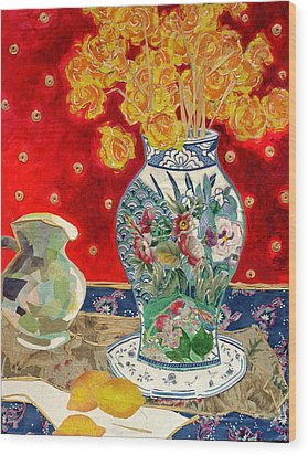 Chinoiserie Wood Print by Diane Fine