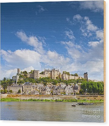 Chinon Loire Valley France Wood Print by Colin and Linda McKie