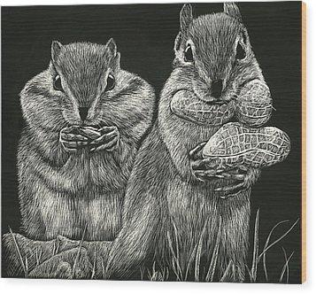 Chip 'n' Dale Wood Print