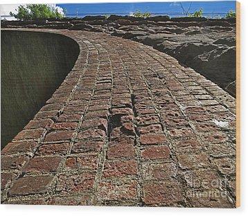 Chipmunks View Of A Stone Bridge Wood Print