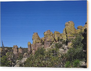 Chiracahua Mountains Wood Print by Diane Lent