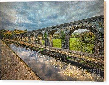 Chirk Aqueduct 1801 Wood Print by Adrian Evans