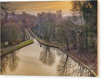 Chirk Aqueduct Wood Print by Adrian Evans