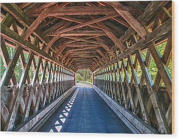 Chiselville Bridge Wood Print by Guy Whiteley