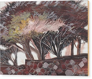 Chocolate Wood Print by Anil Nene