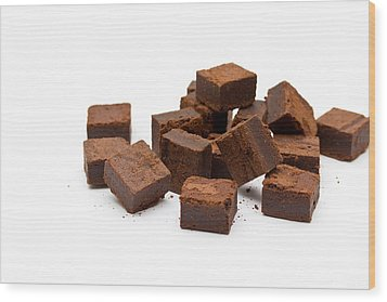 Chocolate Brownies Wood Print