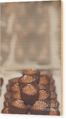 Chocolate Candy Shop Wood Print by Kay Pickens