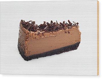 Chocolate Chocolate Cheesecake - Dessert - Baker - Kitchen Wood Print by Andee Design