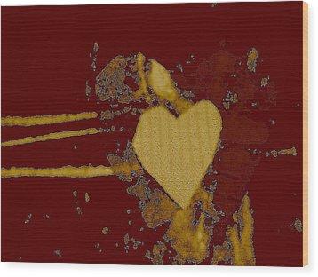 Chocolate-heart Wood Print by Dorothy Rafferty