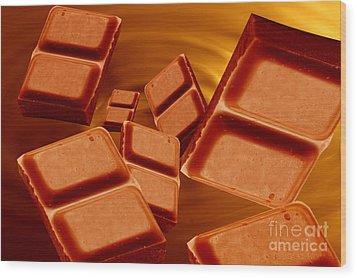 Chocolate Wood Print by Michal Bednarek