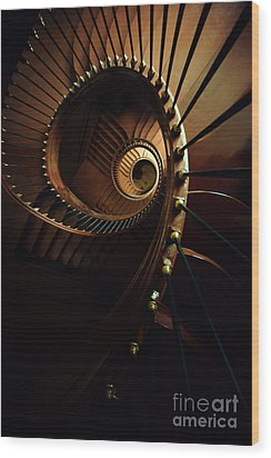 Chocolate Spirals Wood Print