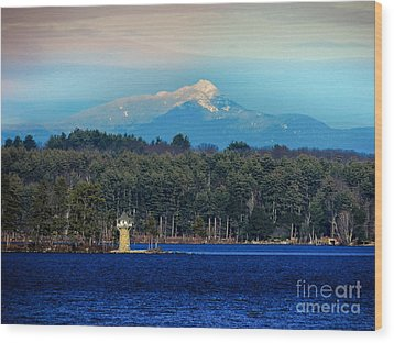 Chocorua And Spindle Point Wood Print by Mim White