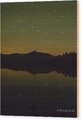 Chocorua Stars Wood Print by Brenda Jacobs