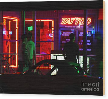 Choices After Midnight Wood Print by Peter Piatt