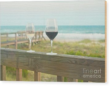 Choices At The Beach Wood Print by Kay Pickens
