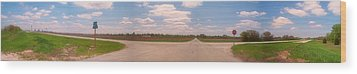 Choices At The Cross Roads Panorama Wood Print by Thomas Woolworth