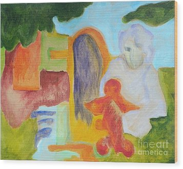 Choices- Caprian Beauty Series 1 Wood Print by Elizabeth Fontaine-Barr