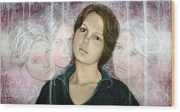 Choices Portrait Of Eva Lynn Horton Wood Print