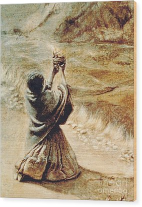 Chola Que Reza Wood Print