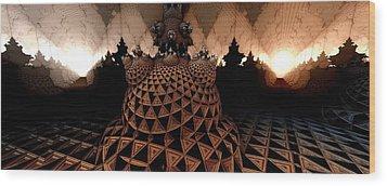 Choose A Path Wood Print by Ricky Jarnagin