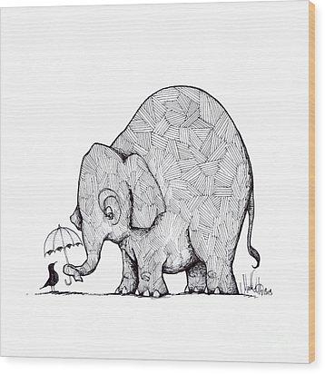 Choose Kindness Wood Print by Michael Ciccotello