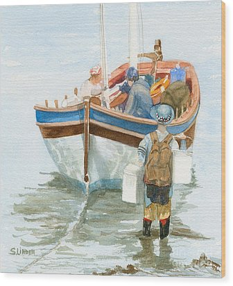 Wood Print featuring the painting Chop Wood Carry Water by Sandy Linden