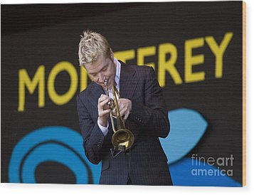 Chris Botti Plays Trumpet Wood Print by Craig Lovell