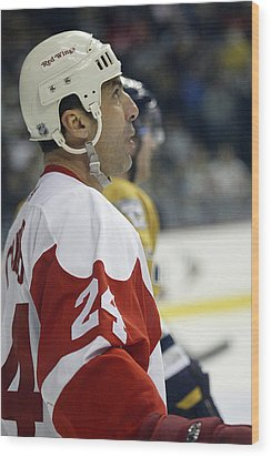 Wood Print featuring the photograph Chris Chelios by Don Olea