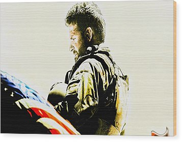 Chris Kyle Wood Print
