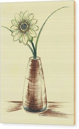 Chrysanthemum Flower Wood Print