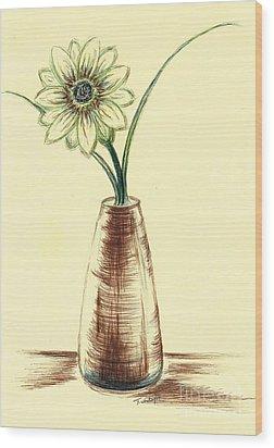Chrysanthemum Flower Wood Print by Teresa White