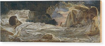 Christ And Mary Magdalene Wood Print by Eugenio Prati