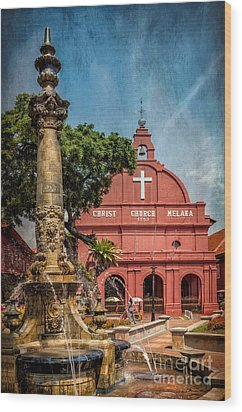 Christ Church Malacca Wood Print by Adrian Evans